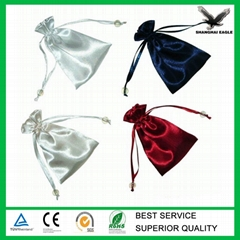 Custom high quality satin jewelry bag string pouch
