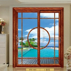 Aluminum Sliding Door with Tempered Glass