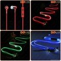 High quality color-changing glowing LED wired earphone with microphone 5