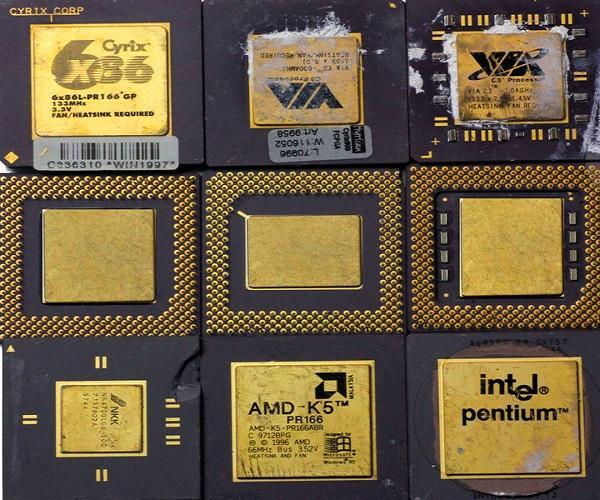 Gold Ceramic CPU Processor Scrap  1
