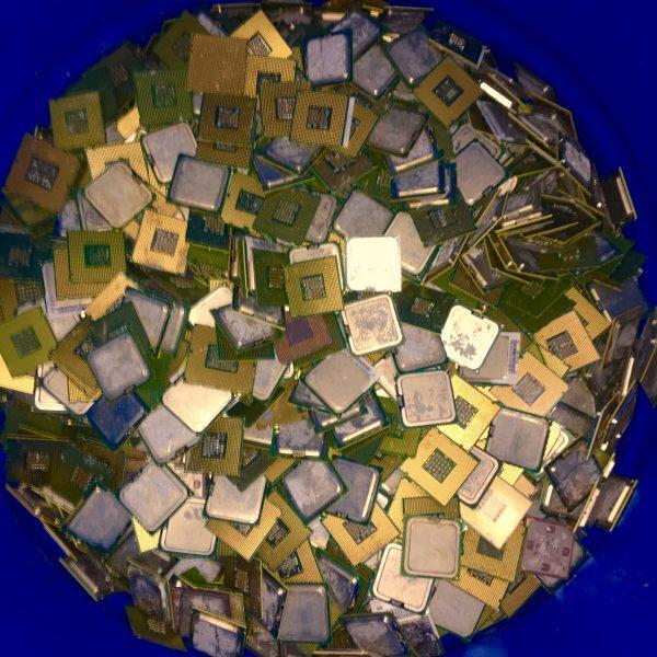 Gold Ceramic CPU Processor Scrap  2