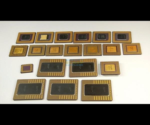 Gold ceramic cpu processor scrap Available 1
