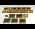 Gold ceramic cpu processor scrap