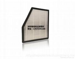 深圳廠家定製+車載淨化過濾芯,空調HEPA過濾網,異型濾芯