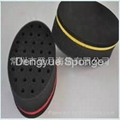 Double Sided with Big or Small Holes Ellipse Shaped Hair Twist Sponge