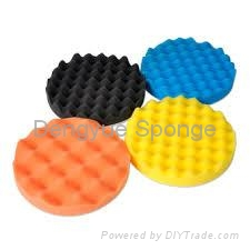 Widely used in Cars Direct factory Very soft custom size polish applicator pads  1