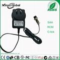 UL cUL FCC approval US plug 8.4V 1A li-ion battery charger 5