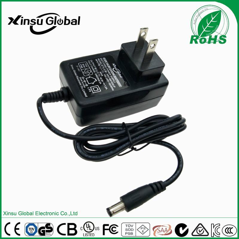 UL cUL FCC approval US plug 8.4V 1A li-ion battery charger 1