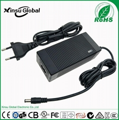 CE TUV/GS listed 29.4V 2A lithium battery charger for 7 cell li-ion battery