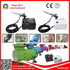 Battery Type mini compressor with air spray gun