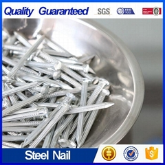 Straight Grooved Steel Nail Zinc Plated