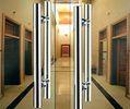 Double Sided Stainless Steel Exterior Door Handles Satin Stainless Steel Door La 1