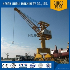 Floating Crane Barge Lift Container Portal Crane 80 Ton