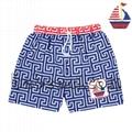 Lovely sail boat smocked swimwear for