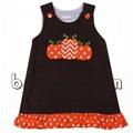 Pretty pumpkins applique A-line dress