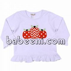 Lovely pumpkins applique T-shirt for girl - BB716