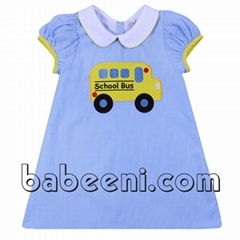 Adorable schoolbus A-line dress for baby girl - DR 2240