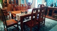 雅典紅木-漢風餐桌+餐椅