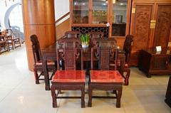 雅典红木祥和餐桌