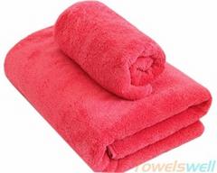 Microfiber Coral Velvet Bath towels
