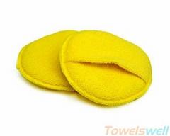 Round Microfiber Applicator Sponges