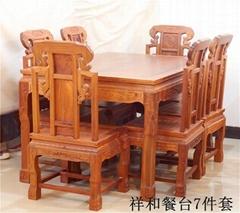 祥和餐桌椅7件套