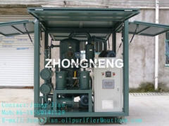Enclosed Weather Proof Type Double Stage High Vacuum Transformer Oil Regeneratio