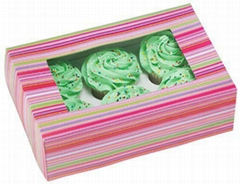 Cupcake Boxes, Card Paper Boxes for Cupcakes Packaging