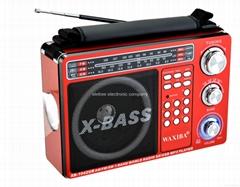 XB-1042UR portable usb sd card loud speaker with AM.MW/FM/led light radio