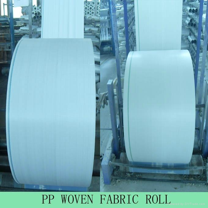 PP Woven Fabric Roll for pp woven flour bag rice sack. 2