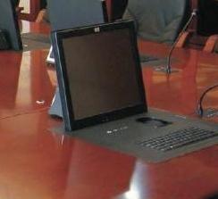 带键盘鼠标电动遥控液晶屏翻转显示器 2