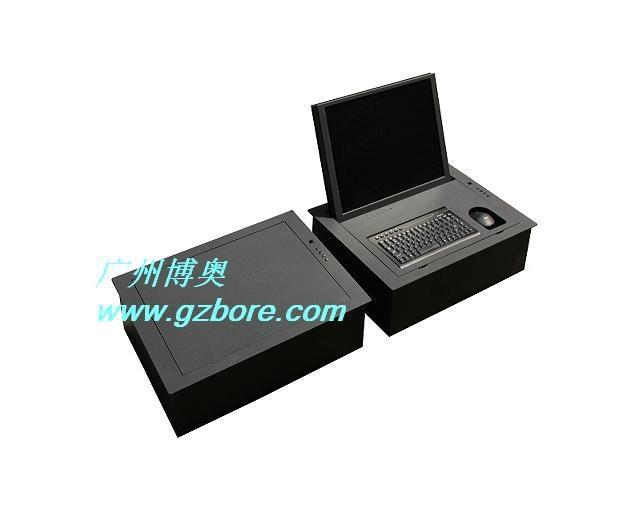 带键盘鼠标电动遥控液晶屏翻转显示器 3