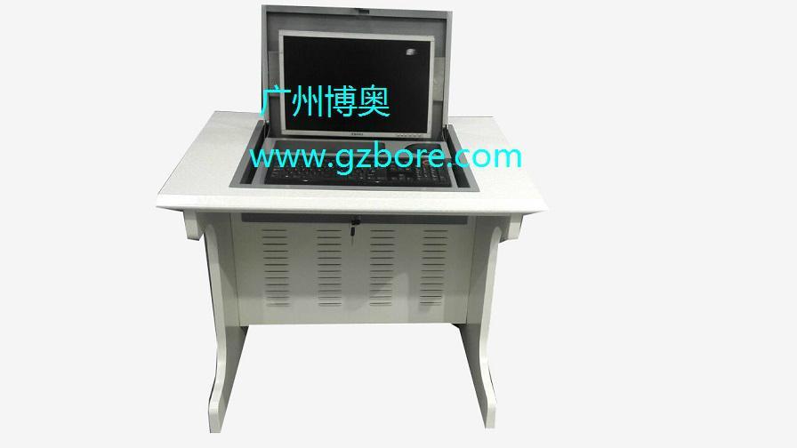 新款鋼木單位電教室液晶屏翻轉電腦桌 1