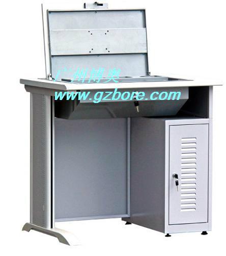 新款鋼木單位電教室液晶屏翻轉電腦桌 4
