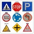 Solar LED flashing Roadway Safety Traffic Signal Sign 1