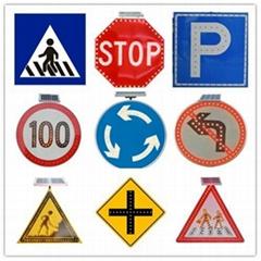 Solar LED flashing Roadway Safety Traffic Signal Sign