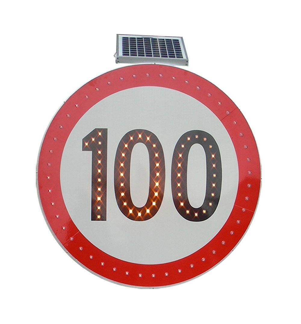 Solar LED flashing Roadway Safety Traffic Signal Sign 2