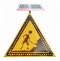 Solar LED flashing Roadway Safety Traffic Signal Sign 3