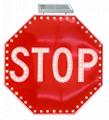 Solar LED flashing Roadway Safety Traffic Signal Sign 4
