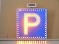 Solar LED flashing Roadway Safety Traffic Signal Sign 5