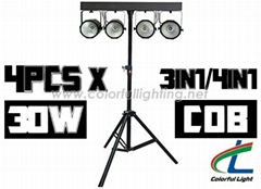 Compact COB 4X30W RGB RGBW LED Par With Truss