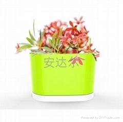 廠家直銷塑料花盆帶底托 盆栽花盆 塑料花盆 創意套盆花盆 特價