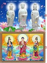 西方三圣佛像阿弥陀佛