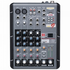 4-Channel with mp3 Bluetooth 99Digital effect audio mixer