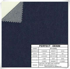 9oz cotton poly mixed stretch denim fabric