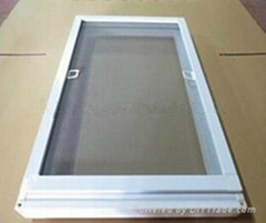 Aluminum frame fiberglass screen windows