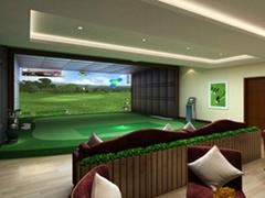单屏娱乐型室内高尔夫
