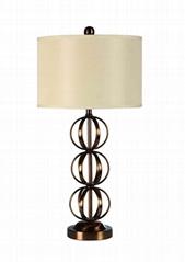 TRIPLE SPHER TABLE LAMP