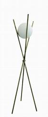Tripod glass floor lamp