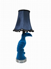 flocked table lamp